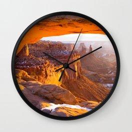USA Mesa Arch Canyonlands National Park Rock Canyon Nature Parks Crag Cliff canyons park Wall Clock