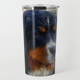 Bernese Mountain Dog Enjoying the Day Travel Mug