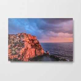 Manarola Cinque Terre at Sunset Metal Print