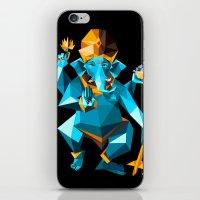 ganesha iPhone & iPod Skins featuring Ganesha by Gaetano Leonardi