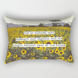 She is clothed with strength and dignity Rectangular Pillow