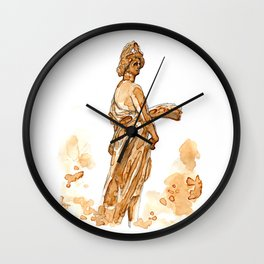 An Espresso Statue Wall Clock