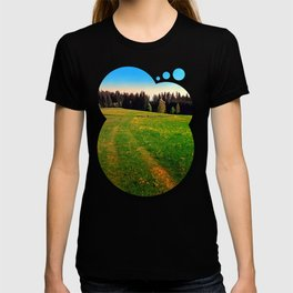 Outdoors in sunny spring T-shirt