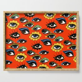 60s Eye Pattern Serving Tray