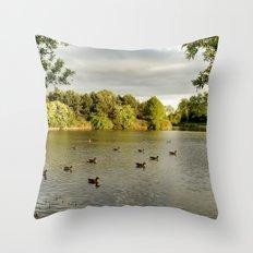 Evening Swim Throw Pillow
