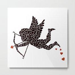 """""""Cupid-vector"""" Unique mosaic  Metal Print"""