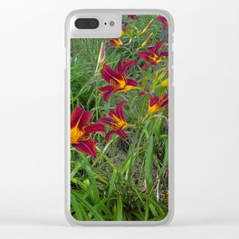 Tiger Lily Garden Clear iPhone Case