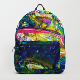 At Ease - Lotus Flower - Abstract Painting Backpack