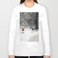 tame impala Long Sleeve T-shirts featuring Can't Tame the Wolf by Caroline Cook