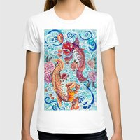 koi fish T-shirts featuring Koi Fish by Art by Risa Oram