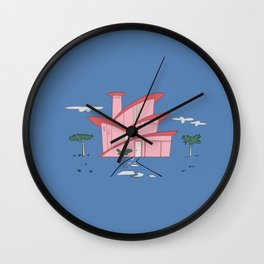 Pink Panther's Modern House Wall Clock