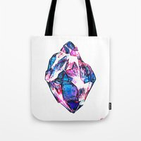 mineral Tote Bags featuring Mineral by arnedayan