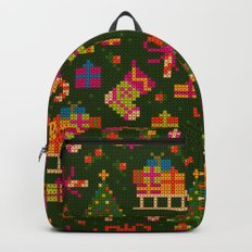 christmas x stitch pattern for the holiday mood Backpack