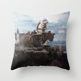 The Dragon Hunter Throw Pillow