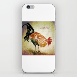Rooster Watercolor Art by CheyAnne Sexton iPhone Skin