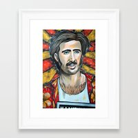 nicolas cage Framed Art Prints featuring Raising Arizona Nicolas Cage by Portraits on the Periphery