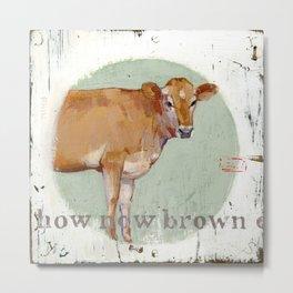 jersey cow Metal Print