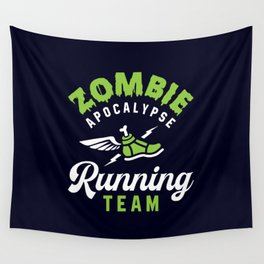 Zombie Apocalypse Running Team Wall Tapestry