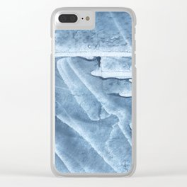 Light steel blue colored wash drawing texture Clear iPhone Case