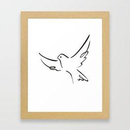 Flying pigeon Framed Art Print