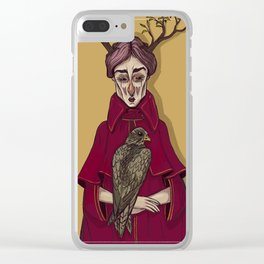 Queen of Hearts Clear iPhone Case