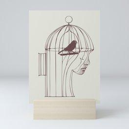 Be Alone Mini Art Print