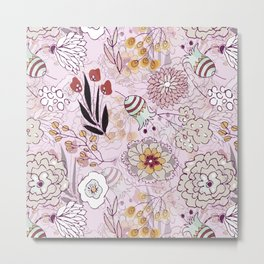 Abstract Flower Dance Metal Print