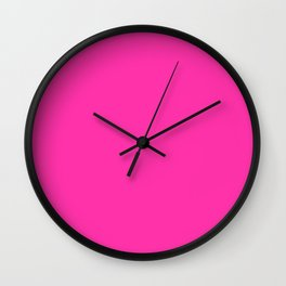 Collection . Neon . Pink Wall Clock
