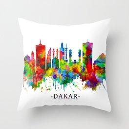 Dakar Senegal Skyline Throw Pillow