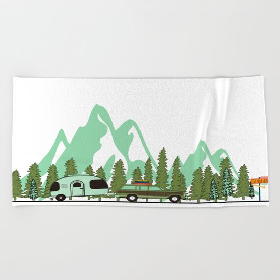 Picture Beach Towel