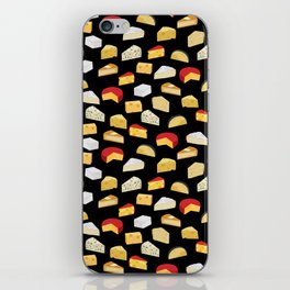 Cheese pattern food fight apparel and gifts iPhone Skin