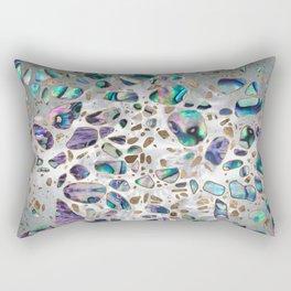Terrazzo - Mosaic Abalone Pearl and Gold #3 Rectangular Pillow