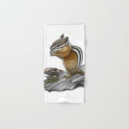 Chipmunk and mushrooms Hand & Bath Towel