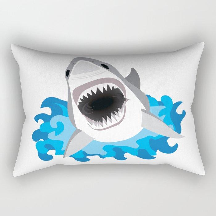Shark Attack #2 Rectangular Pillow