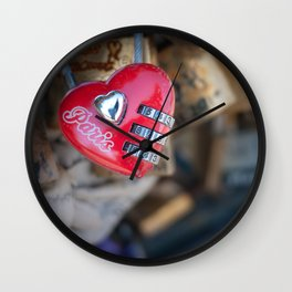 The Love Lock Wall Clock