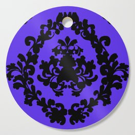 Victorian Damask Purple and Black Cutting Board