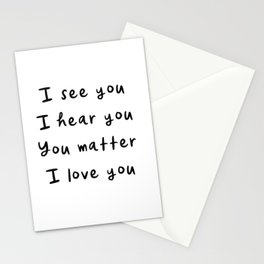 You Matter, Motivational Quote Stationery Cards