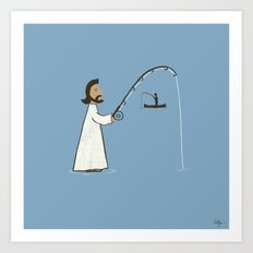 Jesus Fish Art Print