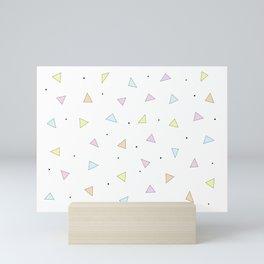 Triangle Confetti Mini Art Print