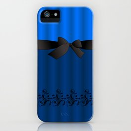 Blue Chiffon Dress iPhone Case