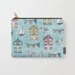 Beach Huts and Gulls Carry-All Pouch