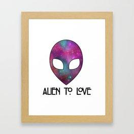 Alien to Love - PURPLE Framed Art Print