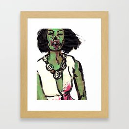 Zombette Framed Art Print