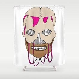 Skull Head Street Art Design Shower Curtain