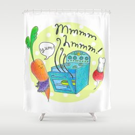 Mmm-Hmm! Kitchen Shower Curtain