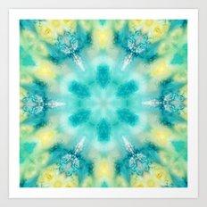 watercolor tie dye Art Print
