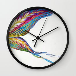 Iris Butterfly Wall Clock