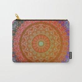 Mandala Glitch Solar Carry-All Pouch
