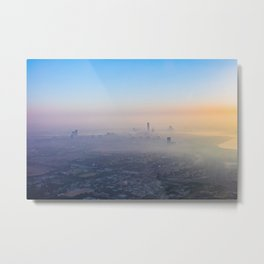 Dubai, In The Clouds Of Dubaï Metal Print
