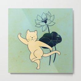 Tai Chi Cat 02 Metal Print
